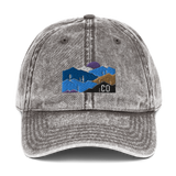 Colorado Mountains Classic Vintage Cotton Twill Cap