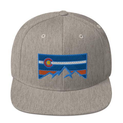 Colorado Mountains Box Logo Classic Snapback Hat