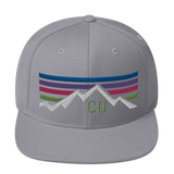Colorado Retro Sunset Mountain Classic Snapback Hat