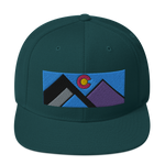 Colorado Geometric Mountains Classic Snapback Hat