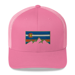 Colorado Flag Colorado Underground Retro Trucker Cap