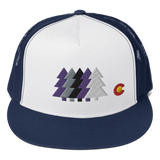 Colorado Trees Baseball Classic Flat Bill Trucker Cap