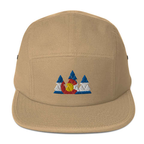 Colorado Flag Forest Five Panel Cap