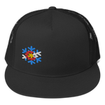 Colorado Flag Snowflake Design Trucker Cap