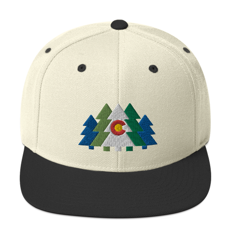 Colorado Flag Forest Trees Classic Snapback Hat