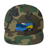 Colorado Mountains Classic Snapback Hat