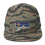 Colorado Retro Mountain Logo Five Panel Cap
