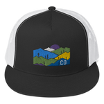 Colorado Mountains Classic Flat Bill Trucker Cap