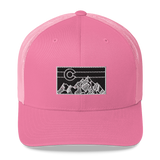 Colorado Geometric Mountain Retro Trucker Cap