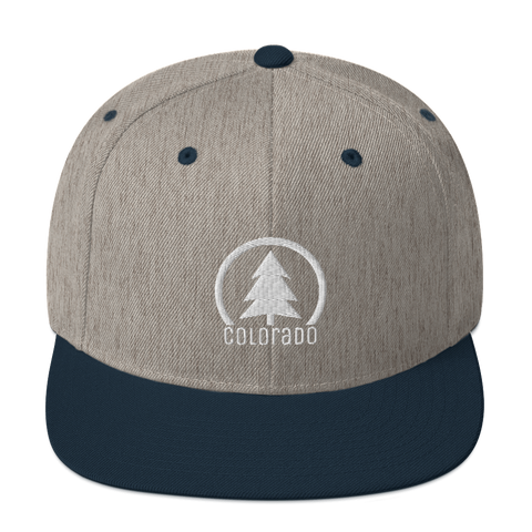 Colorado Tree Simple Classic Snapback Hat