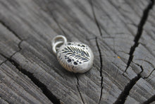 Load image into Gallery viewer, Pine Leaf on silver river rock charm