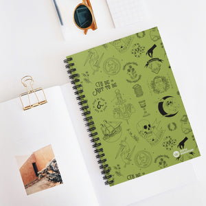 Shakespeare Icons Spiral Notebook - Ruled Line green