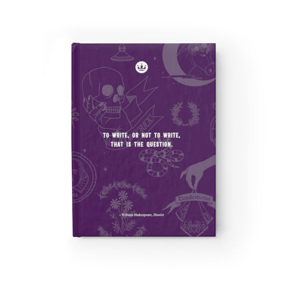 To Write or Not to Write Journal - Ruled Line purple