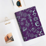 Shakespeare Icons Spiral Notebook - Ruled Line purple