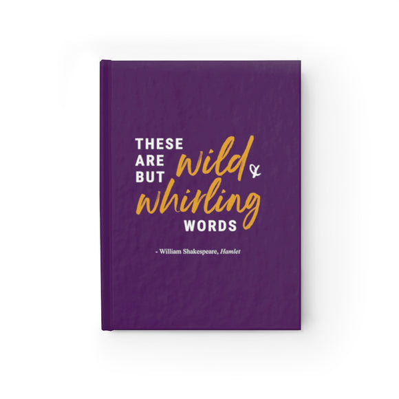 Wild and Whirling Journal - Ruled Line purple
