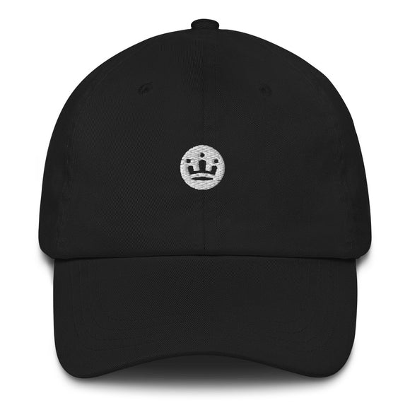 Baseball cap with white crown logo