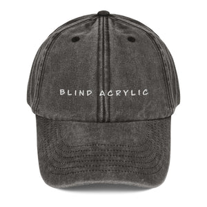 Blind Acrylic Signature Vintage Dad Hat In Black