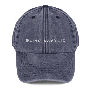 Blind Acrylic Signature Vintage Dad Hat In Denim