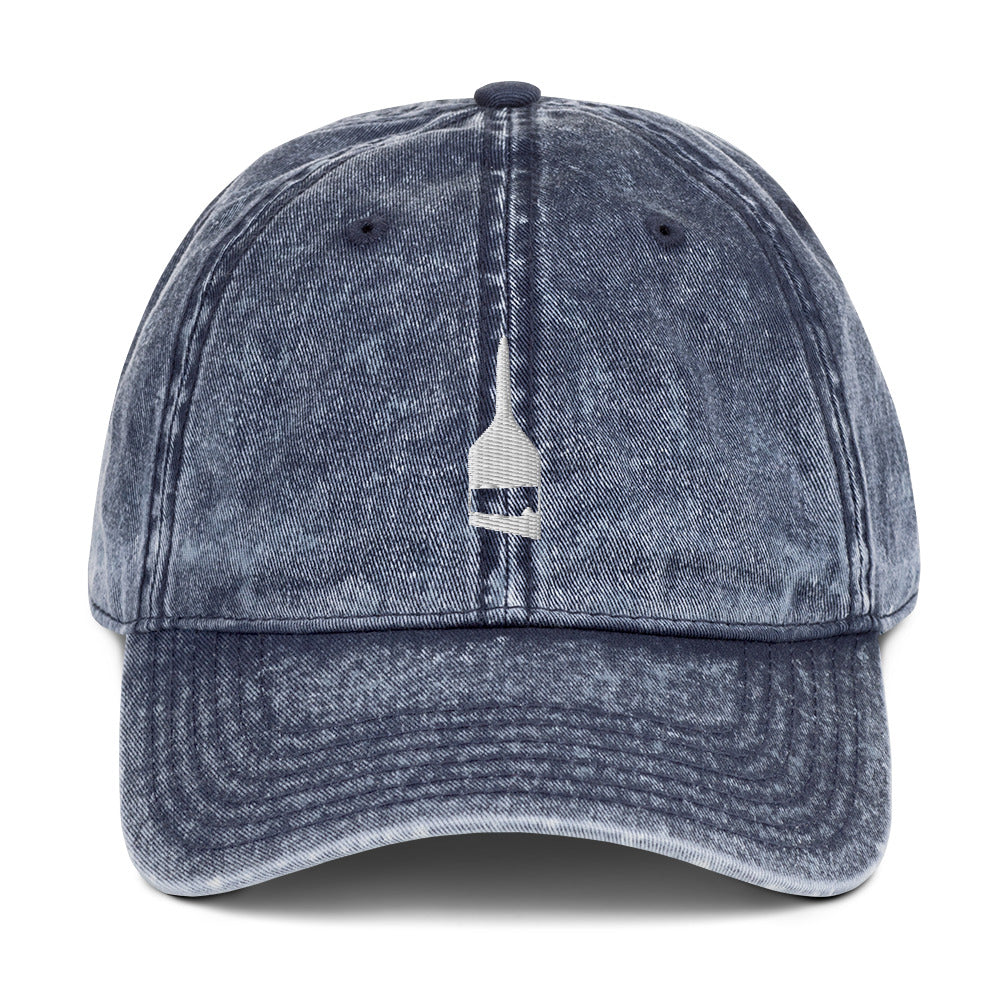Blind Acrylic Logo Vintage Dad Hat In Blue