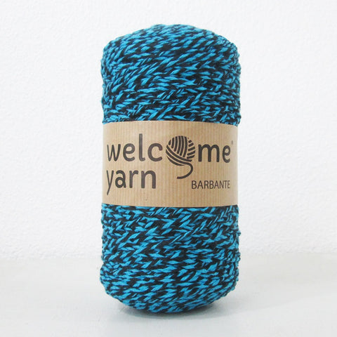 Barbante Yarn Black and Blue