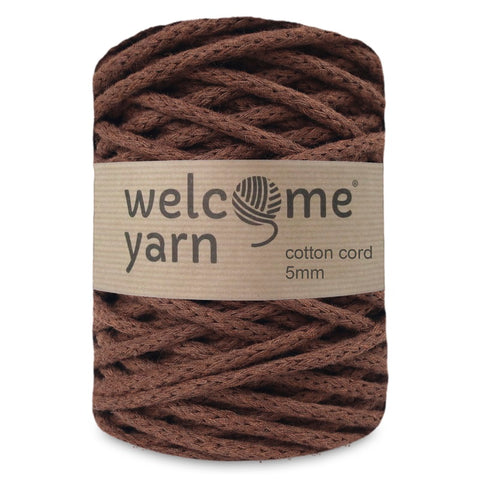 Cotton Cord 5mm Chocolate Brown