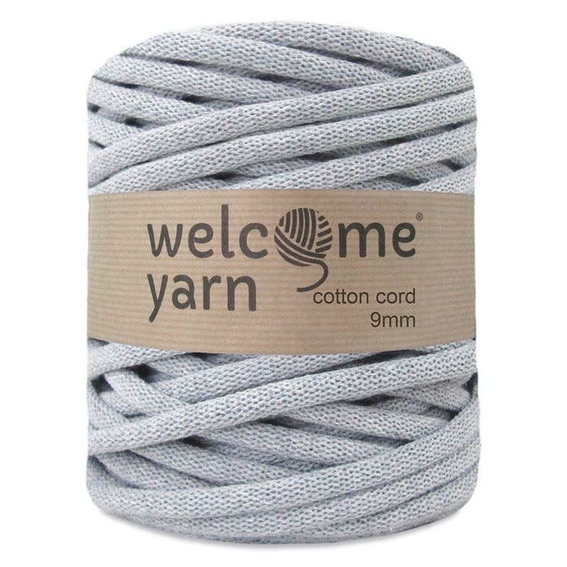 Cotton Cord 9mm Light Grey