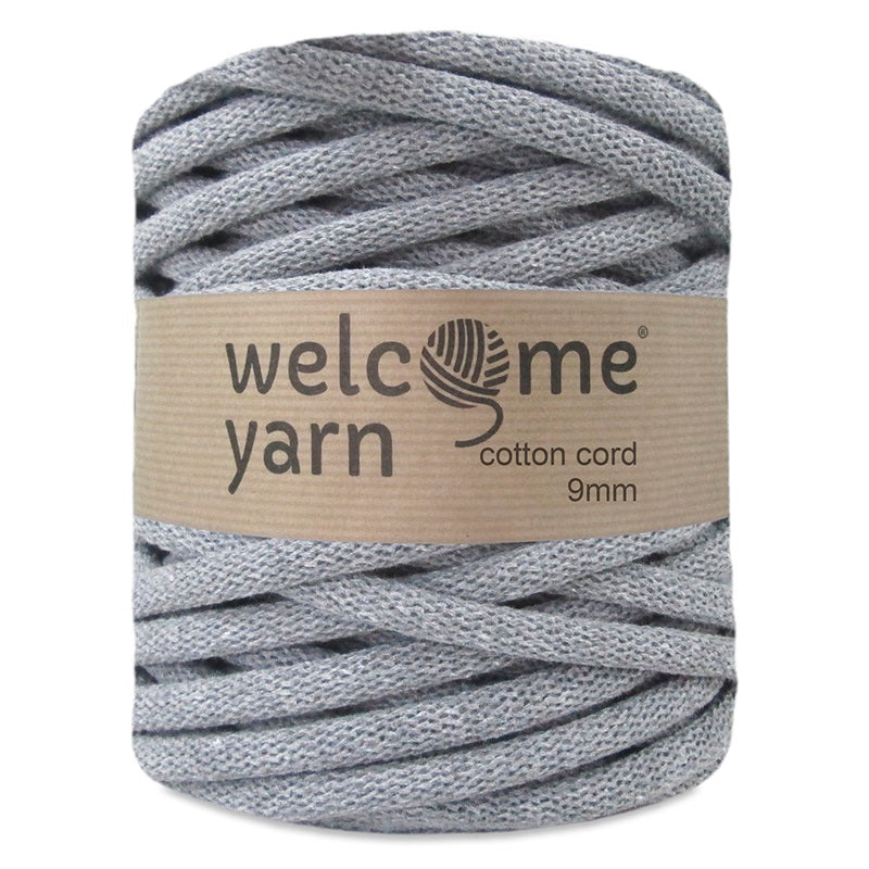 Cotton Cord 9mm Dark Grey