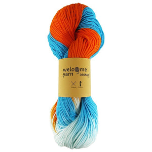 Degradé Yarn Blue and Orange