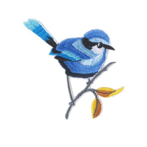 Iron-On Applique Blue Bird