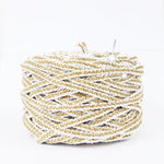 Metallic Yarn White and Golden