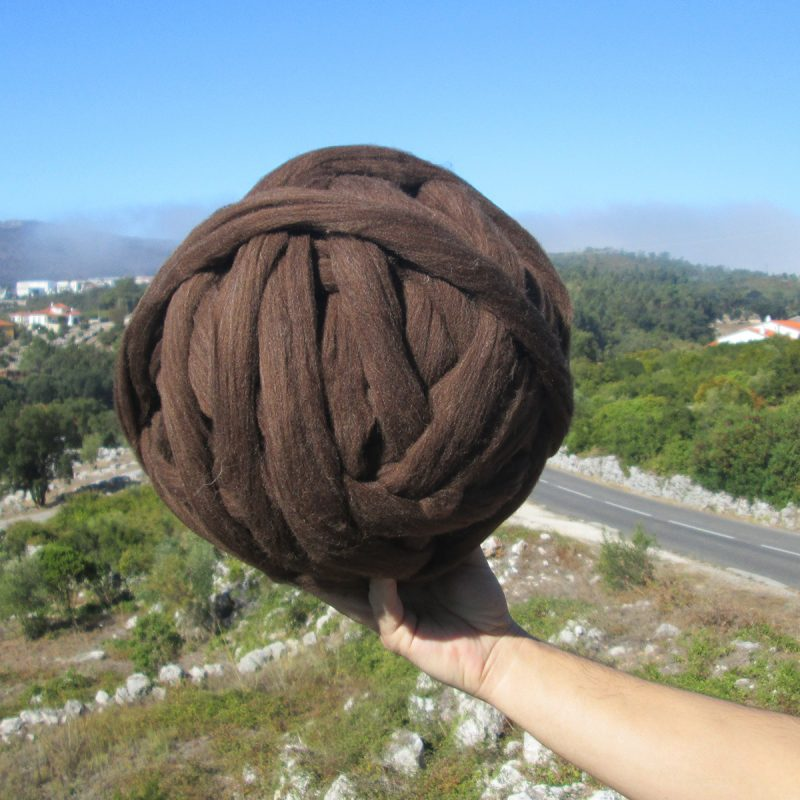 Merino Wool XXL 1Kg Chocolate Brown