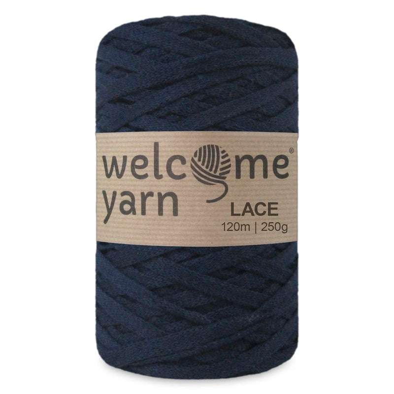 Lace Yarn Navy Blue