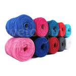 Mini T-shirt Yarn Bobbins Pack 10x - Sorted Solid Colours