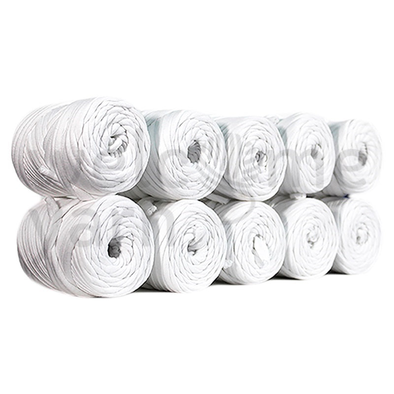 Mini T-shirt Yarn Bobbins Pack 10x - White