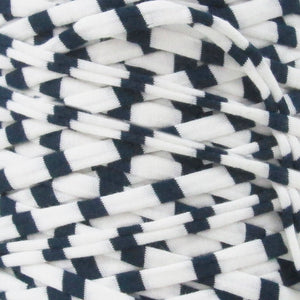T-shirt Yarn Black and White Stripes
