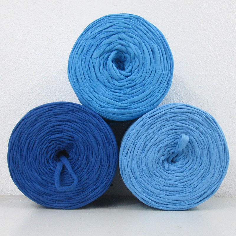 T-shirt Yarn Shades of Blue Pack3x