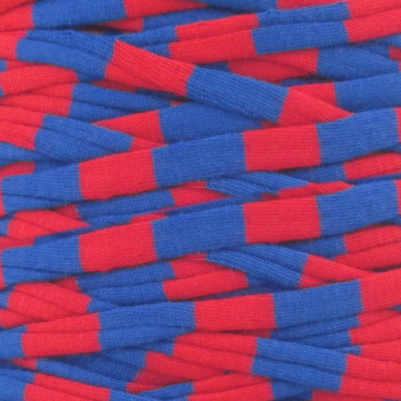 T-shirt Yarn Red and Blue Stripes