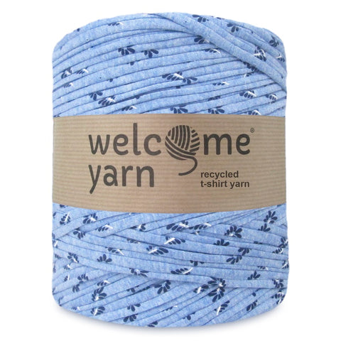 T-shirt Yarn Blue Leaves