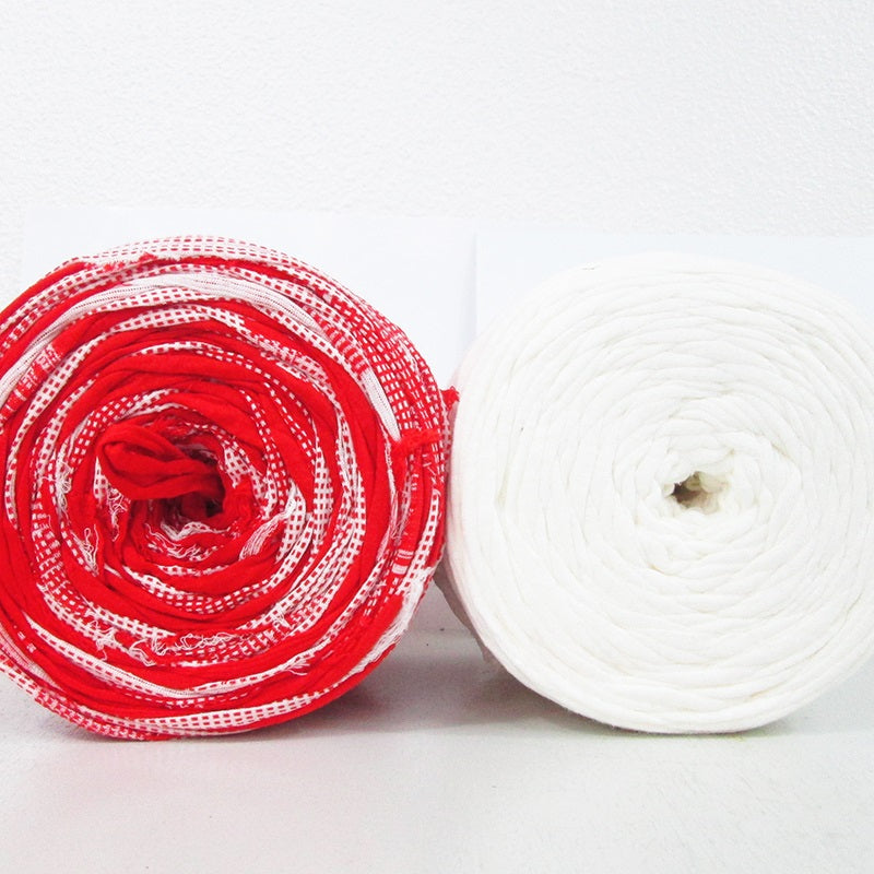 T-shirt Yarn Red and White Pack2x