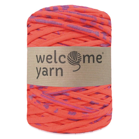 T-shirt Yarn Coral and Violet