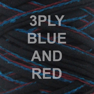 T-shirt Yarn Blue and Red 3PLY
