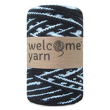 T-shirt Yarn Black and Blue 2PLY
