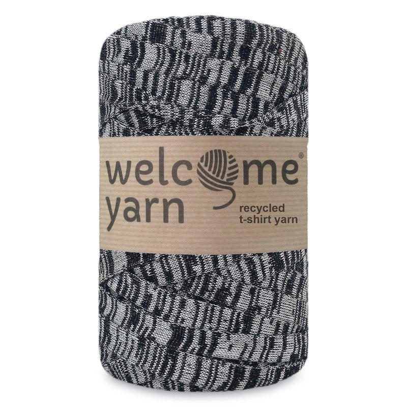 T-shirt Yarn Black and Grey
