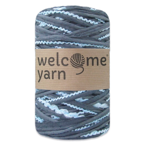T-shirt Yarn Grey and Blue 2PLY