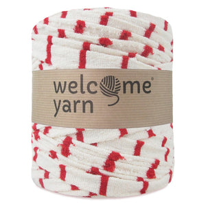 T-shirt Yarn Red and Off-White