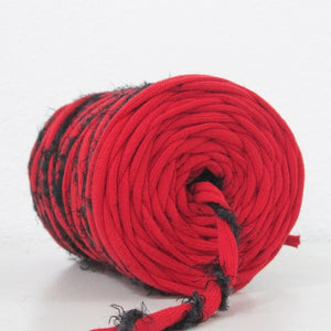 T-shirt Yarn Red and Black 2PLY