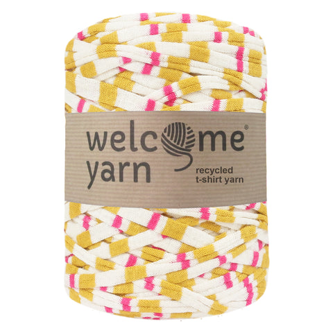 T-shirt Yarn Yellow and Pink