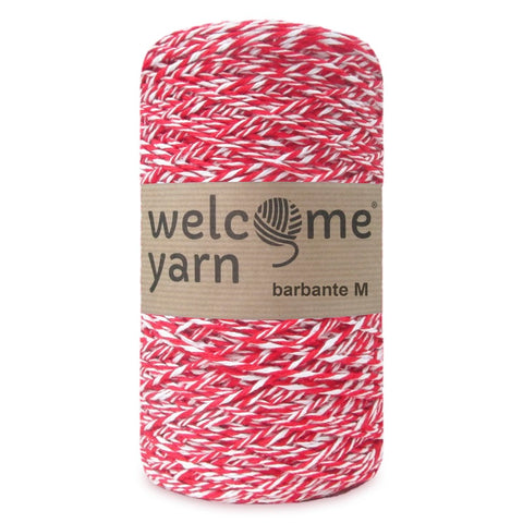 Barbante Yarn Red and White