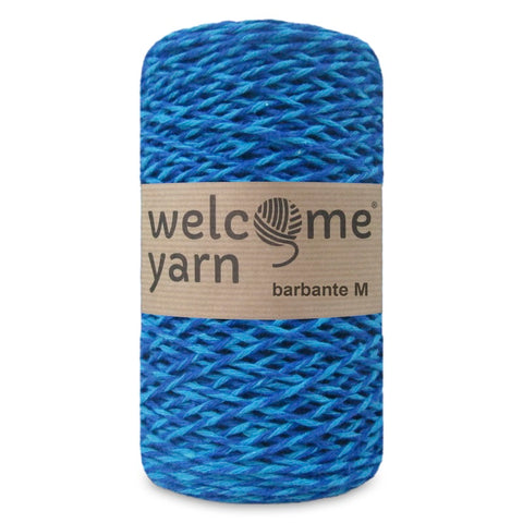 Barbante Yarn Black Shades of Blue