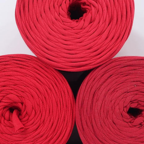 T-shirt Yarn Shades of  Red Pack3x